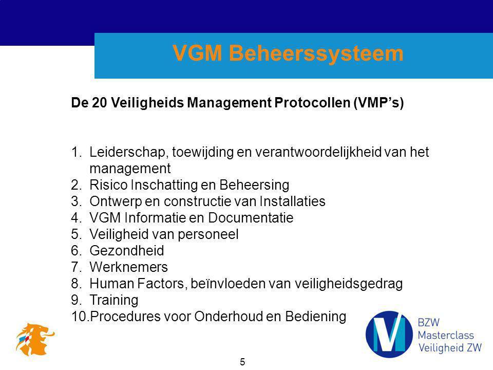VGM Beheerssysteem De 20 Veiligheids Management Protocollen (VMP's)