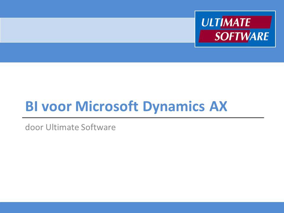 BI voor Microsoft Dynamics AX