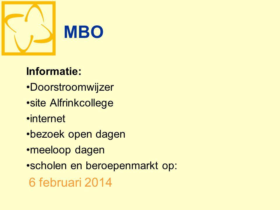 MBO Informatie: Doorstroomwijzer site Alfrinkcollege internet