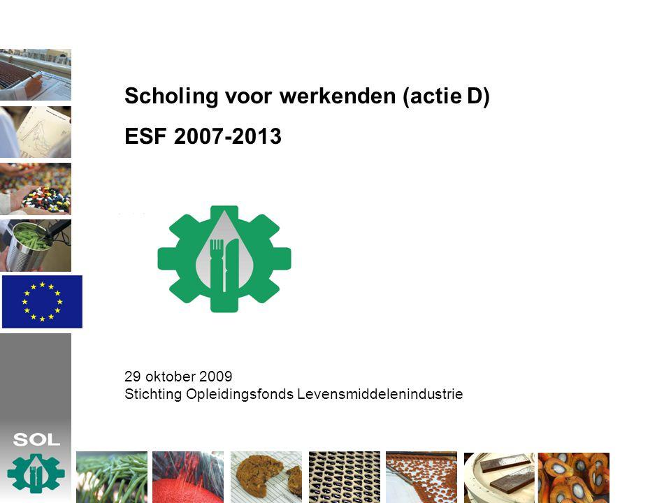 Scholing voor werkenden (actie D) ESF 2007-2013