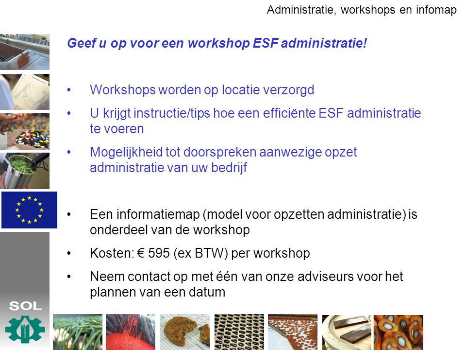 Geef u op voor een workshop ESF administratie!