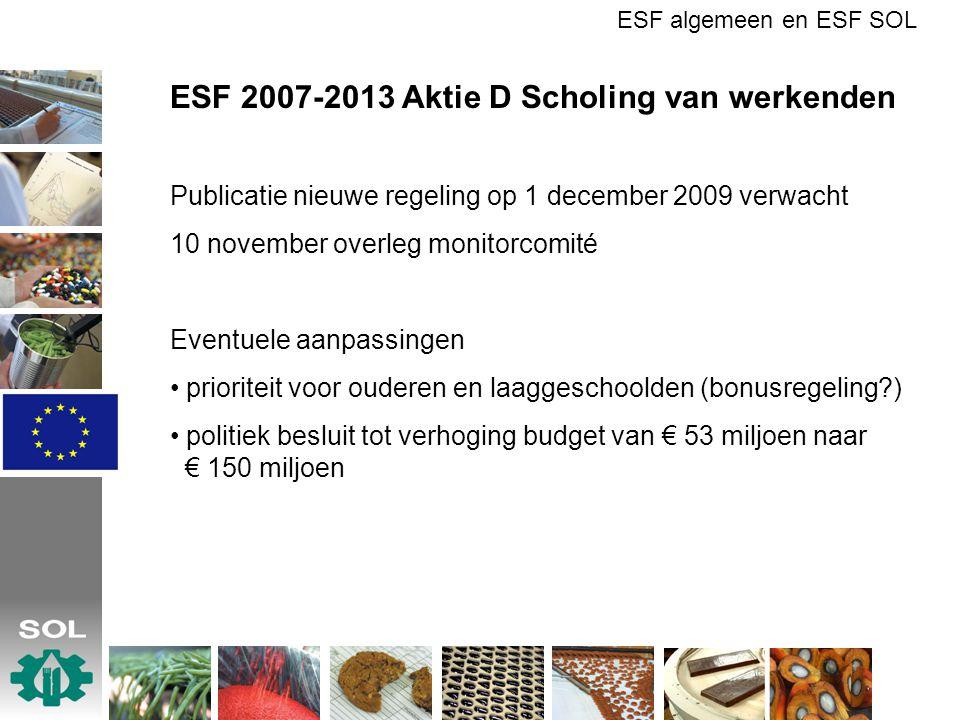 ESF 2007-2013 Aktie D Scholing van werkenden