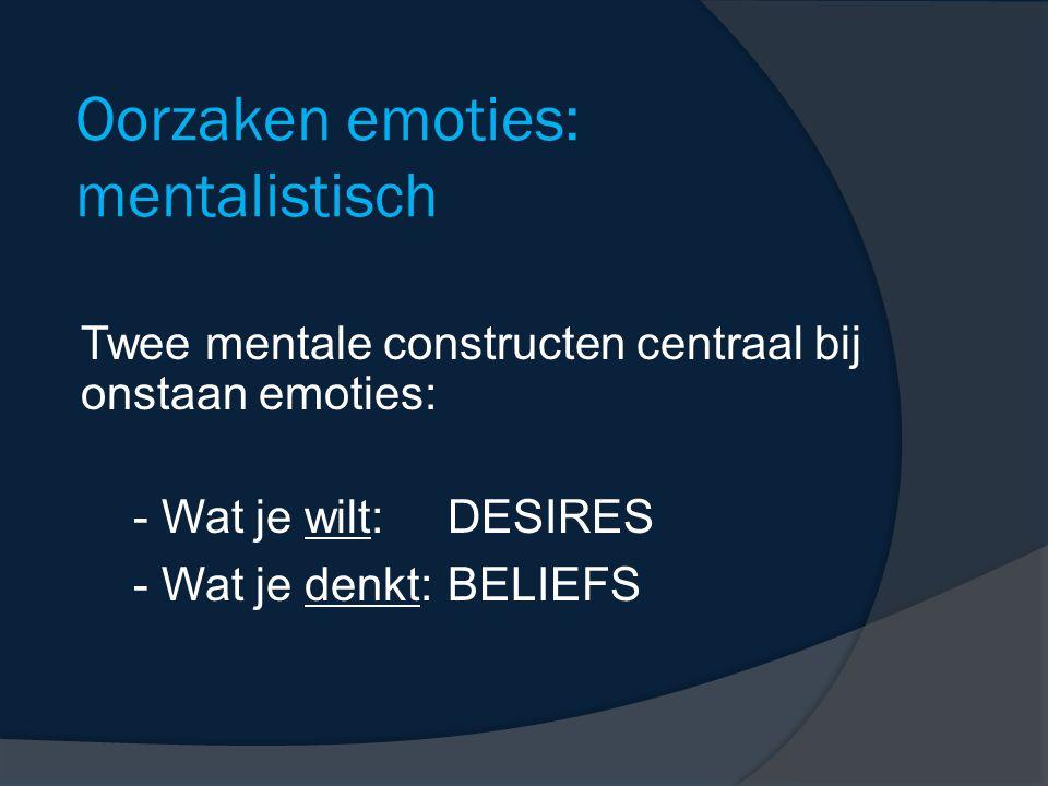 Oorzaken emoties: mentalistisch