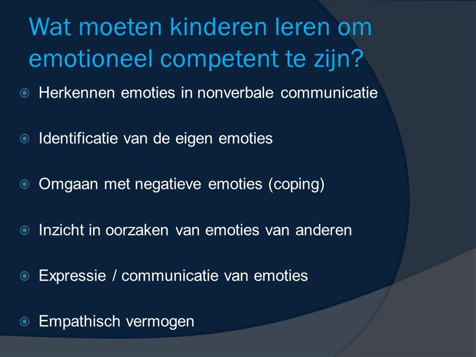 Wat moeten kinderen leren om emotioneel competent te zijn