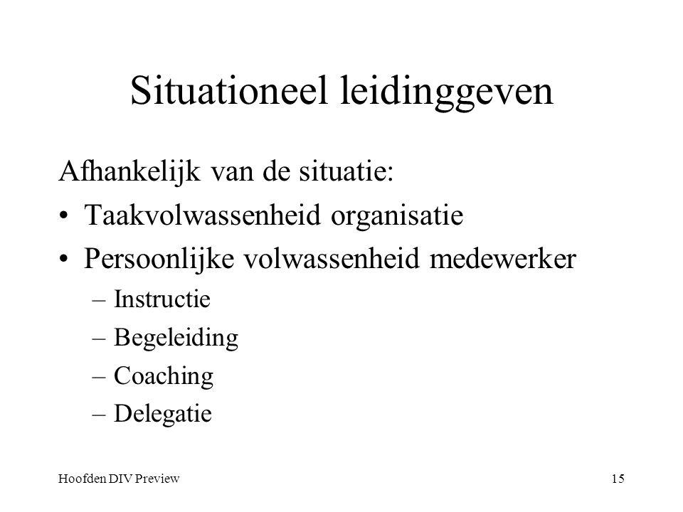 Situationeel leidinggeven