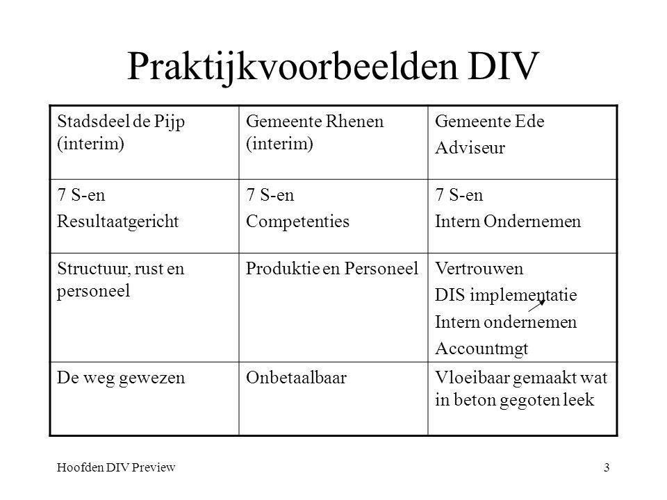 Praktijkvoorbeelden DIV
