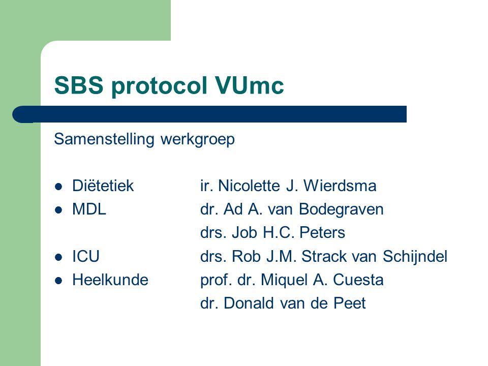 SBS protocol VUmc Samenstelling werkgroep