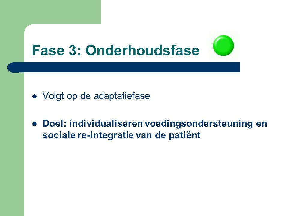 Fase 3: Onderhoudsfase Volgt op de adaptatiefase