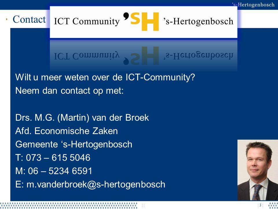 Contact Wilt u meer weten over de ICT-Community