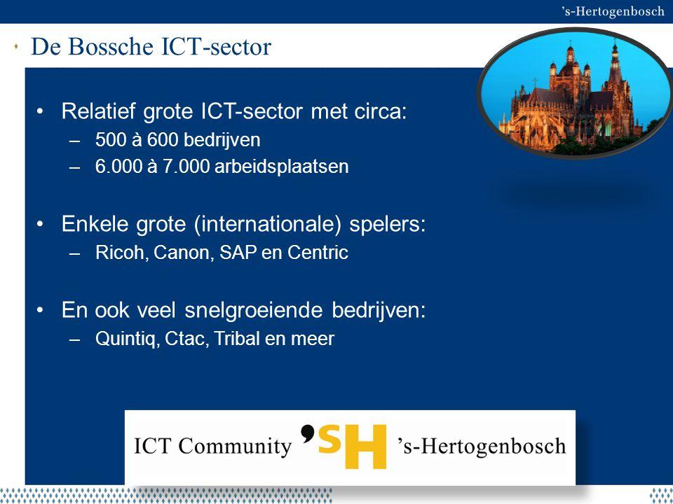 De Bossche ICT-sector Relatief grote ICT-sector met circa: