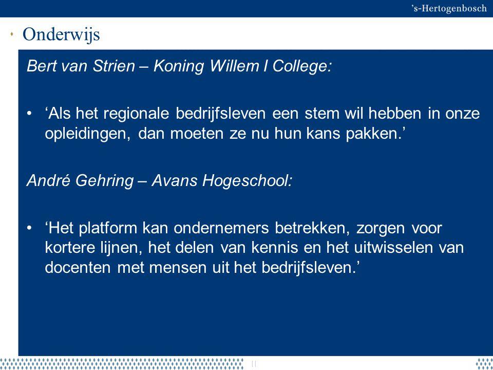 Onderwijs Bert van Strien – Koning Willem I College: