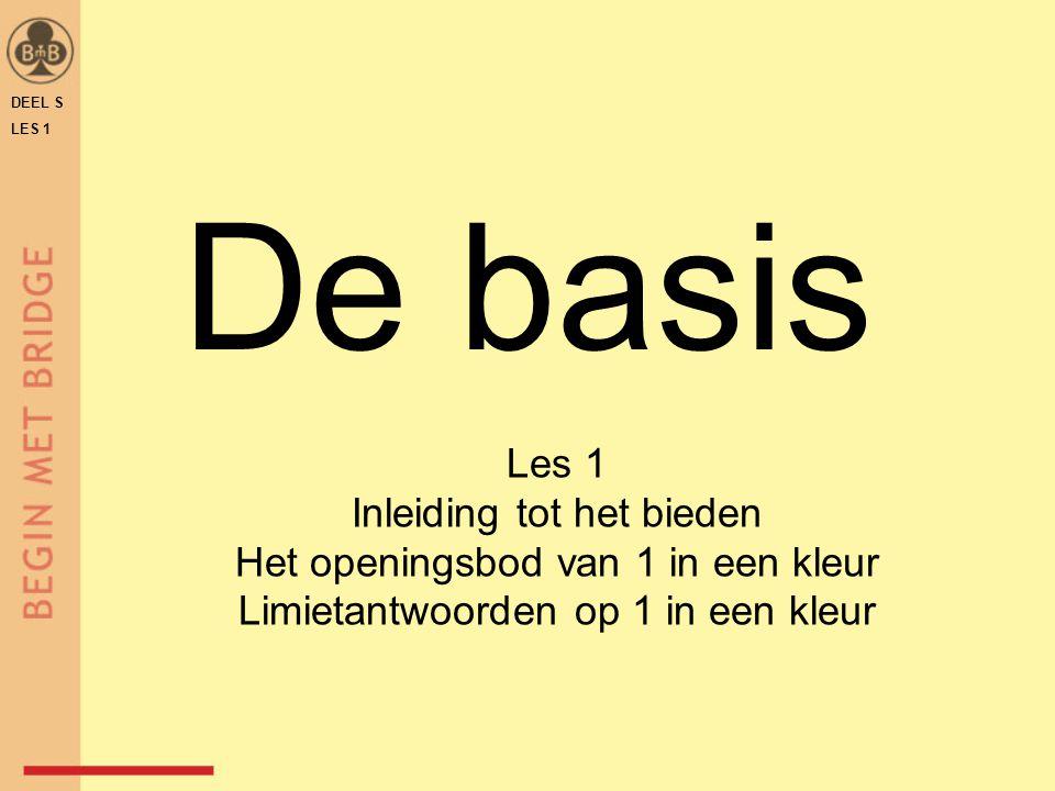 De basis Les 1 Inleiding tot het bieden