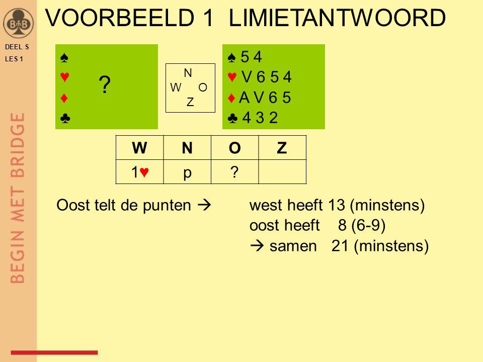 VOORBEELD 1 LIMIETANTWOORD