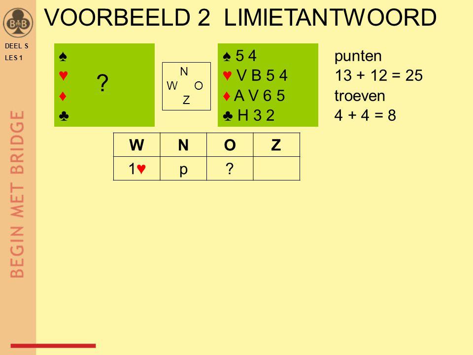 VOORBEELD 2 LIMIETANTWOORD