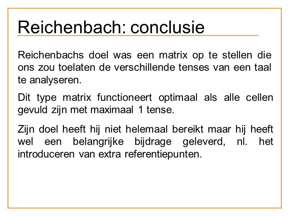 Reichenbach: conclusie