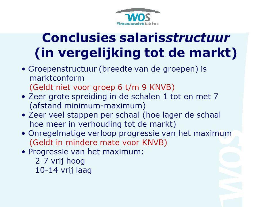 Conclusies salarisstructuur (in vergelijking tot de markt)