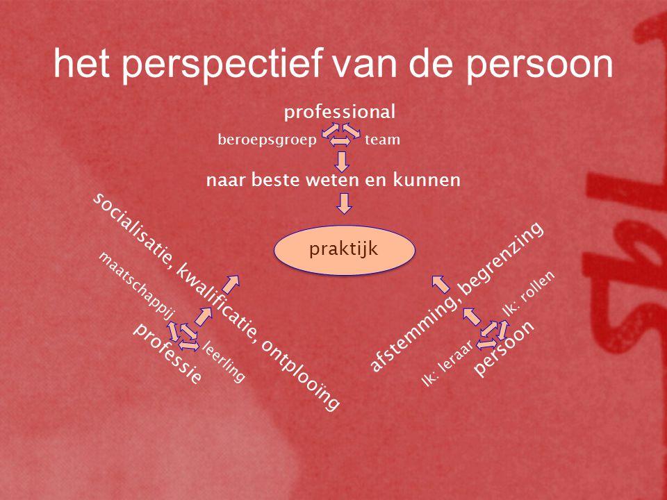 het perspectief van de persoon