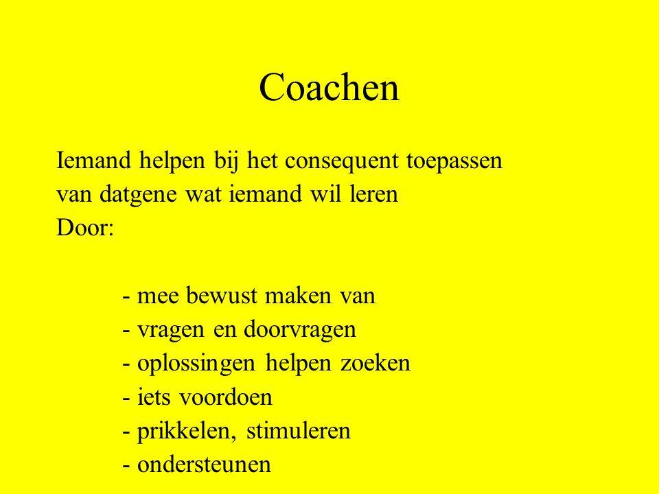 Coachen Iemand helpen bij het consequent toepassen