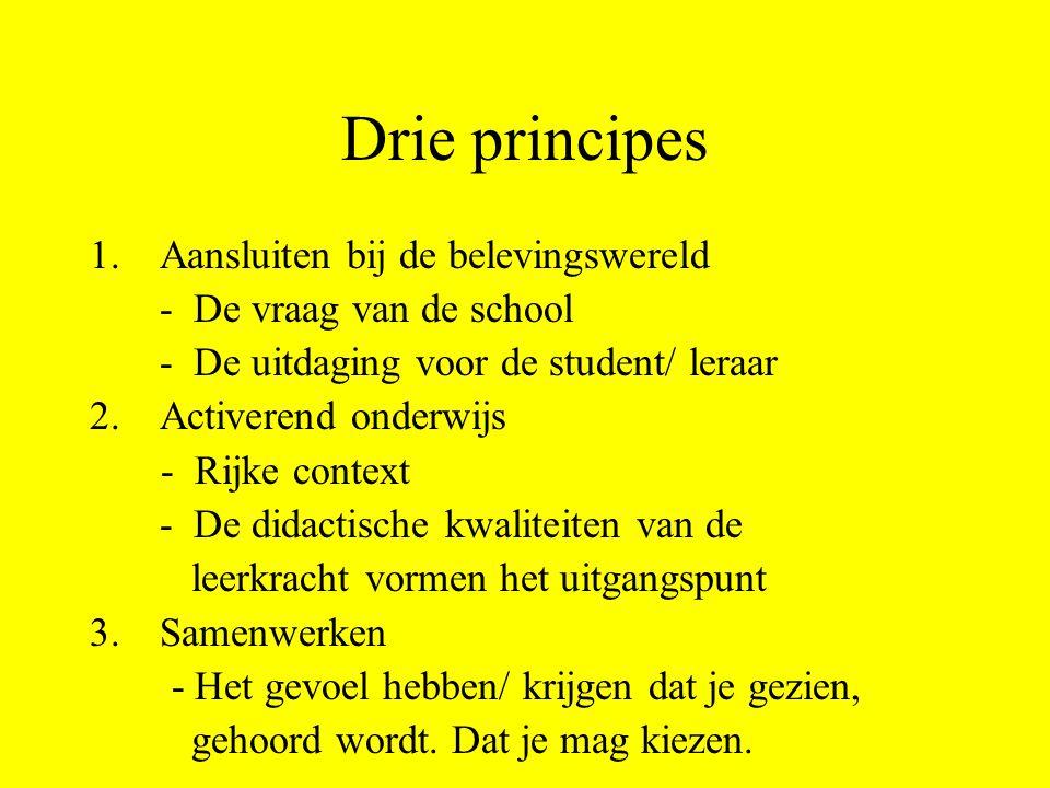 Drie principes Aansluiten bij de belevingswereld