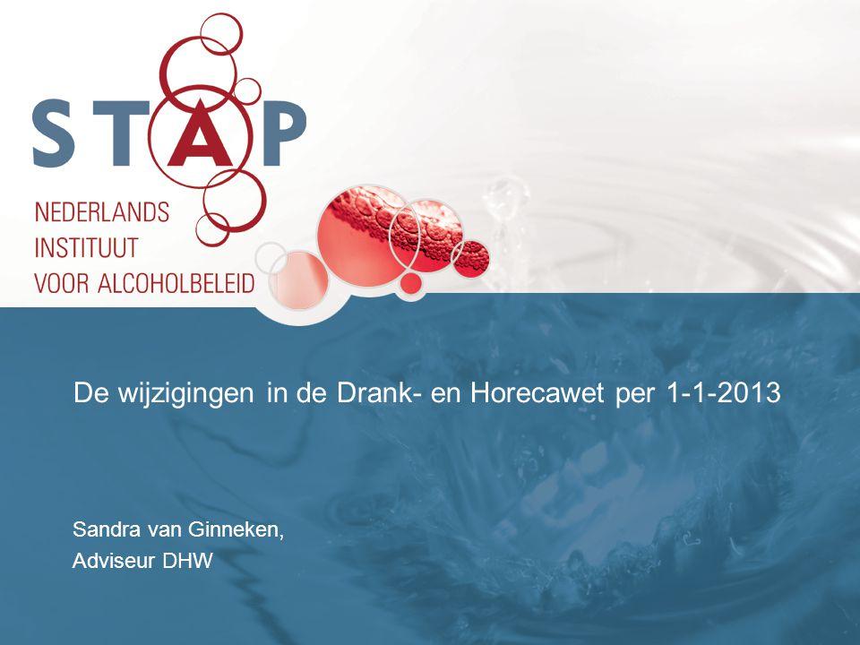 De wijzigingen in de Drank- en Horecawet per 1-1-2013