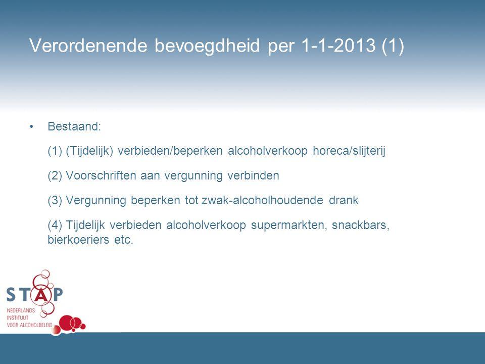 Verordenende bevoegdheid per 1-1-2013 (1)