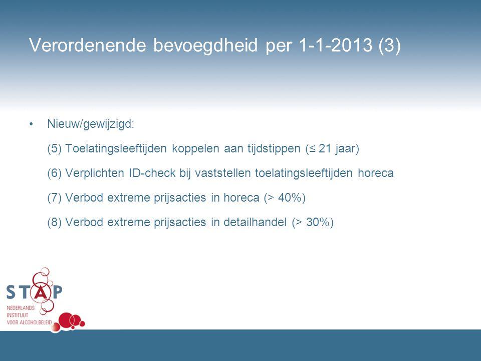 Verordenende bevoegdheid per 1-1-2013 (3)