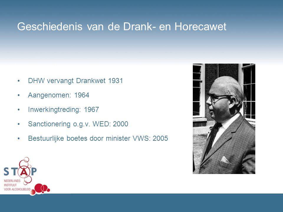 Geschiedenis van de Drank- en Horecawet