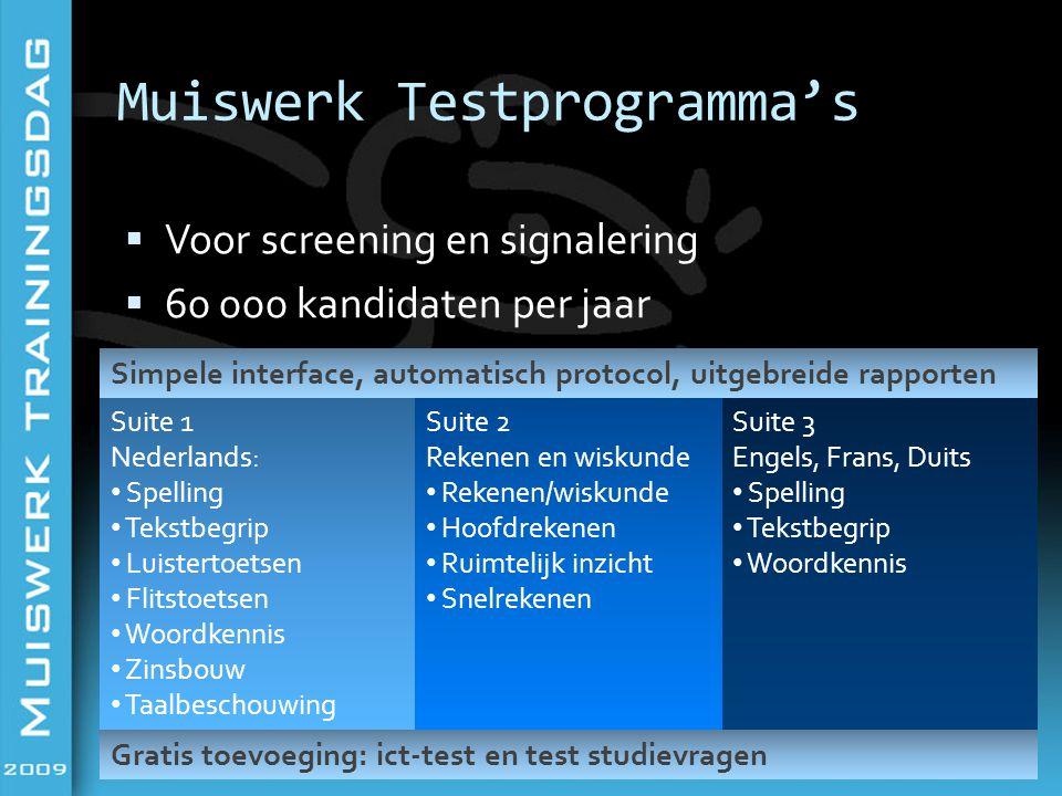 Muiswerk Testprogramma's