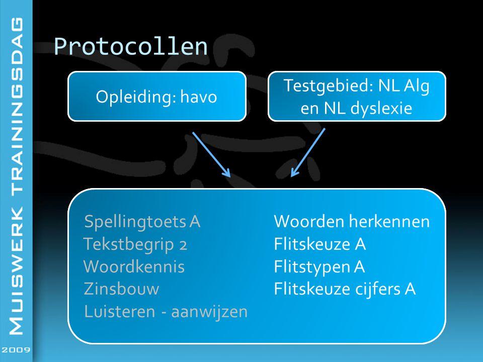 Testgebied: NL Alg en NL dyslexie