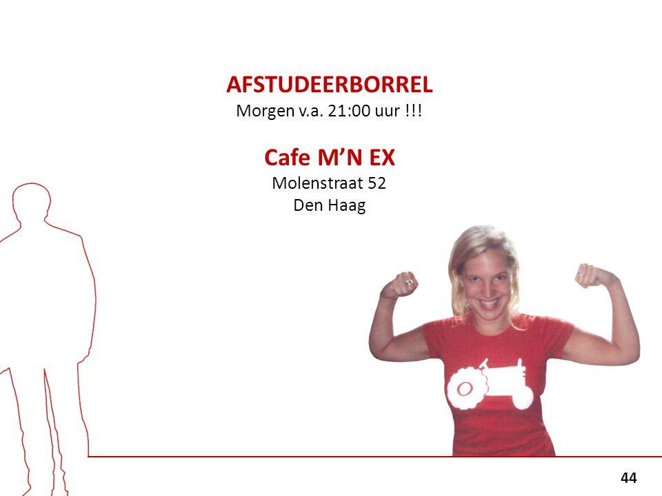 AFSTUDEERBORREL Cafe M'N EX
