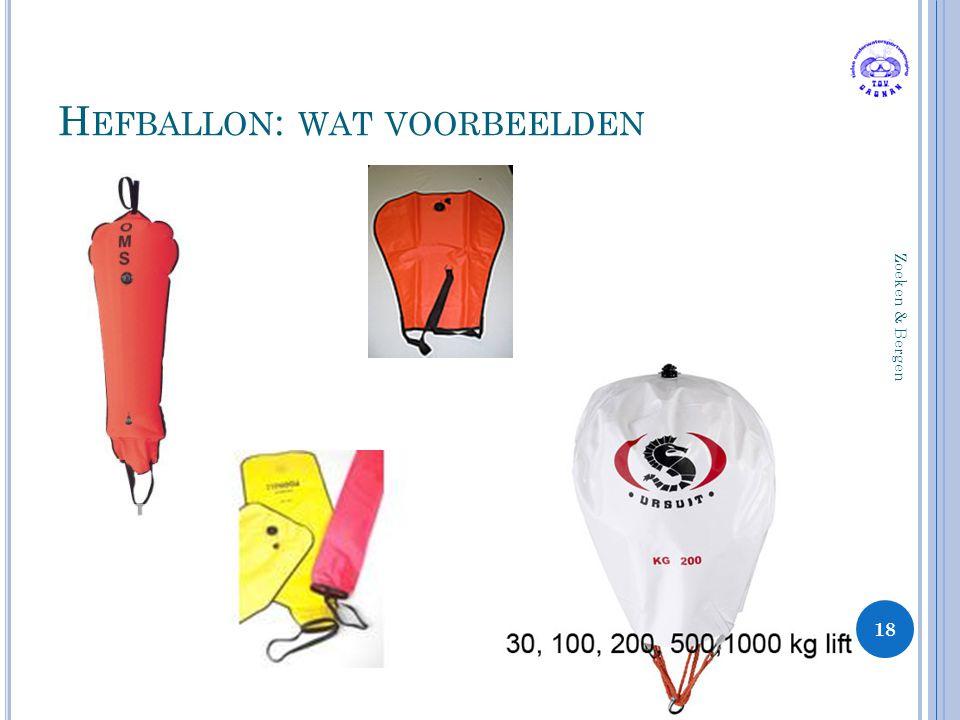 Hefballon: wat voorbeelden