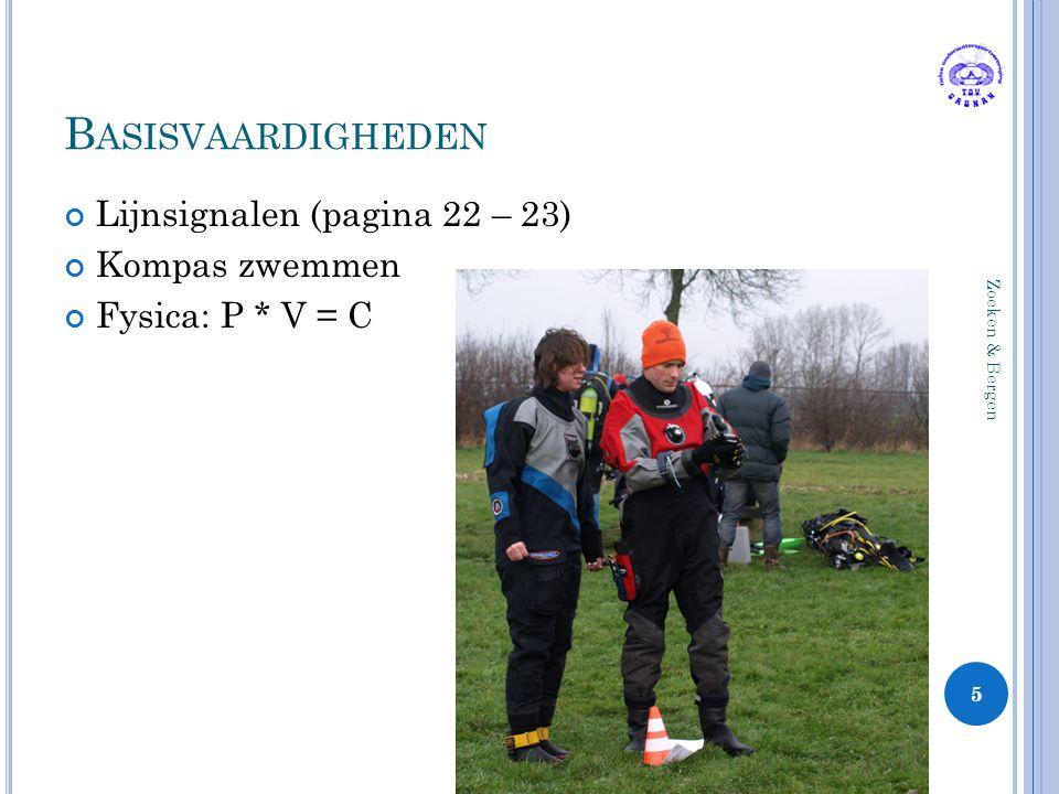 Basisvaardigheden Lijnsignalen (pagina 22 – 23) Kompas zwemmen