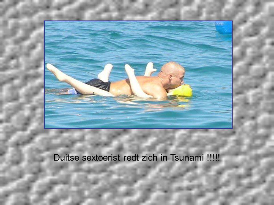 Duitse sextoerist redt zich in Tsunami !!!!!