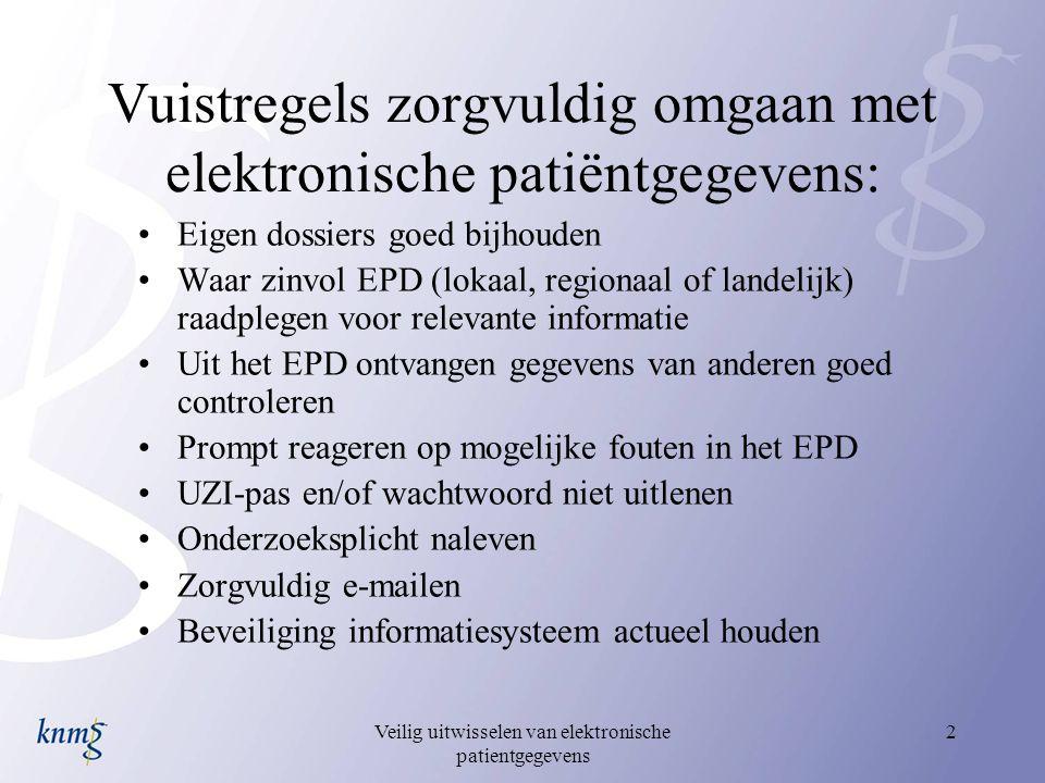 Vuistregels zorgvuldig omgaan met elektronische patiëntgegevens: