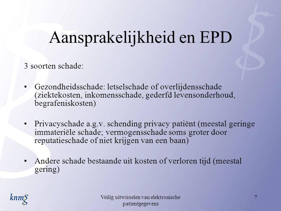 Aansprakelijkheid en EPD