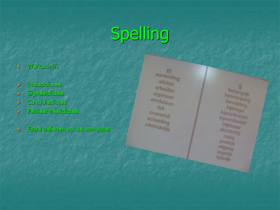 Spelling Werkschrift Instapdictee Signaaldictee Controledictee