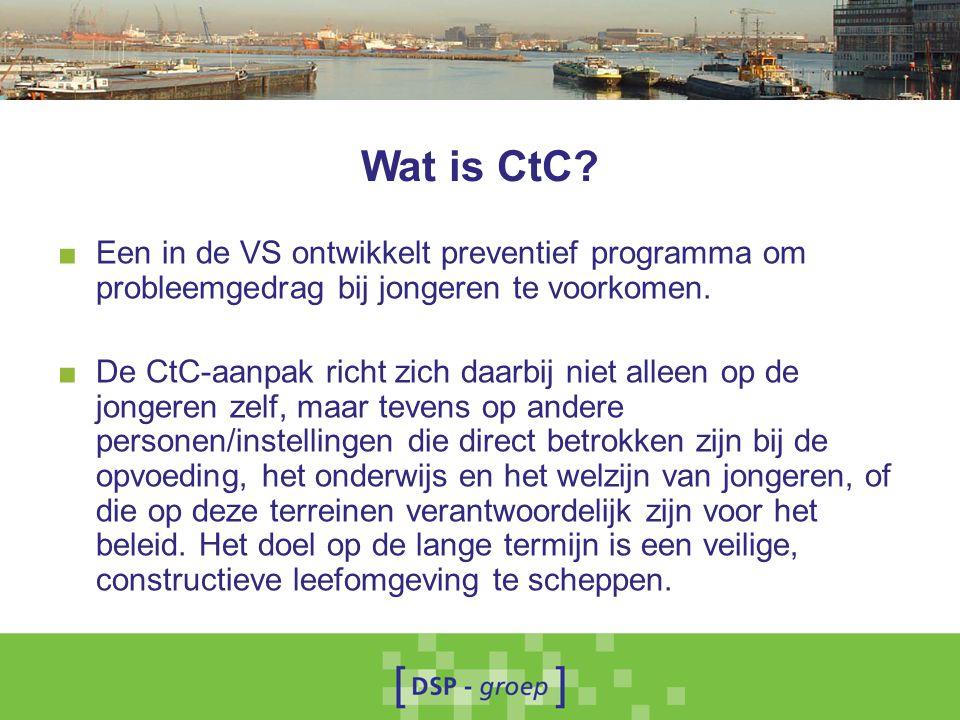 Wat is CtC Een in de VS ontwikkelt preventief programma om probleemgedrag bij jongeren te voorkomen.