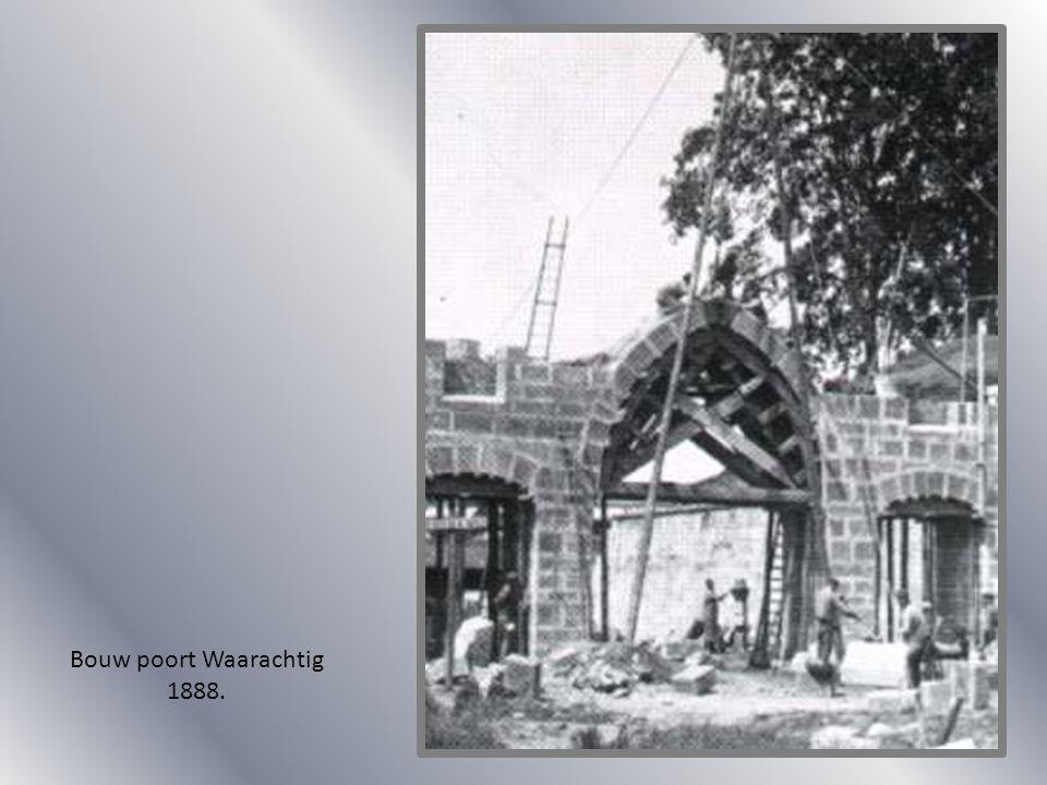 Bouw poort Waarachtig 1888.