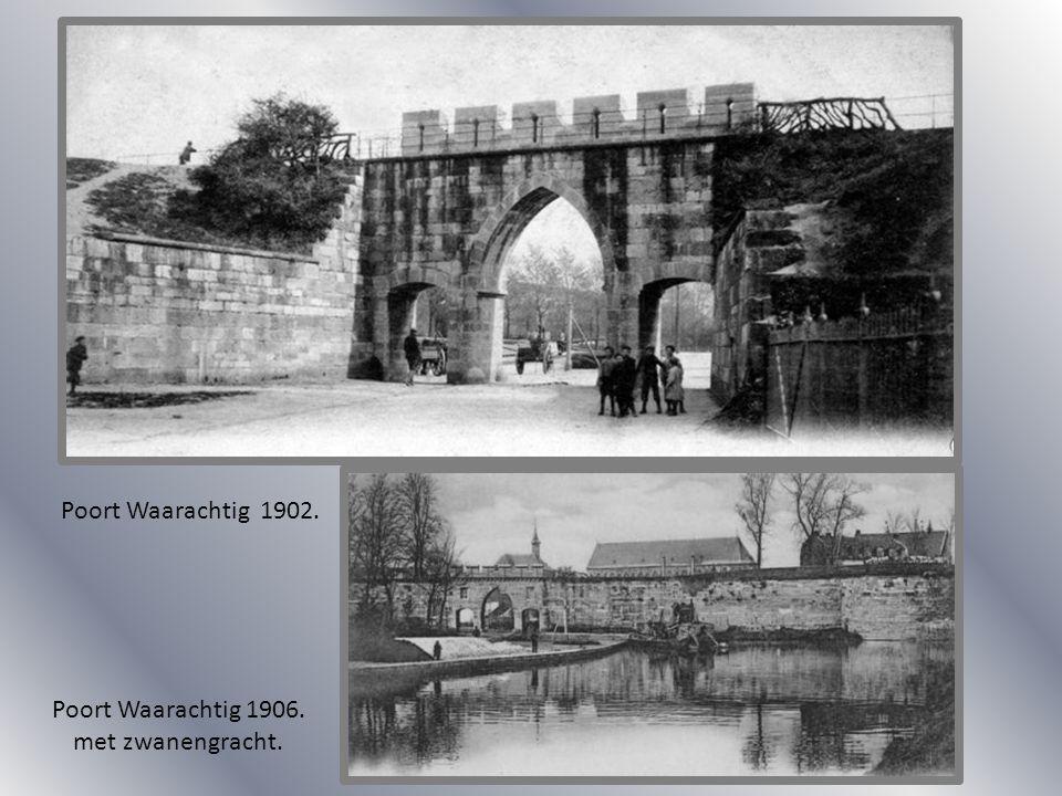 Poort Waarachtig 1902. Poort Waarachtig 1906. met zwanengracht.