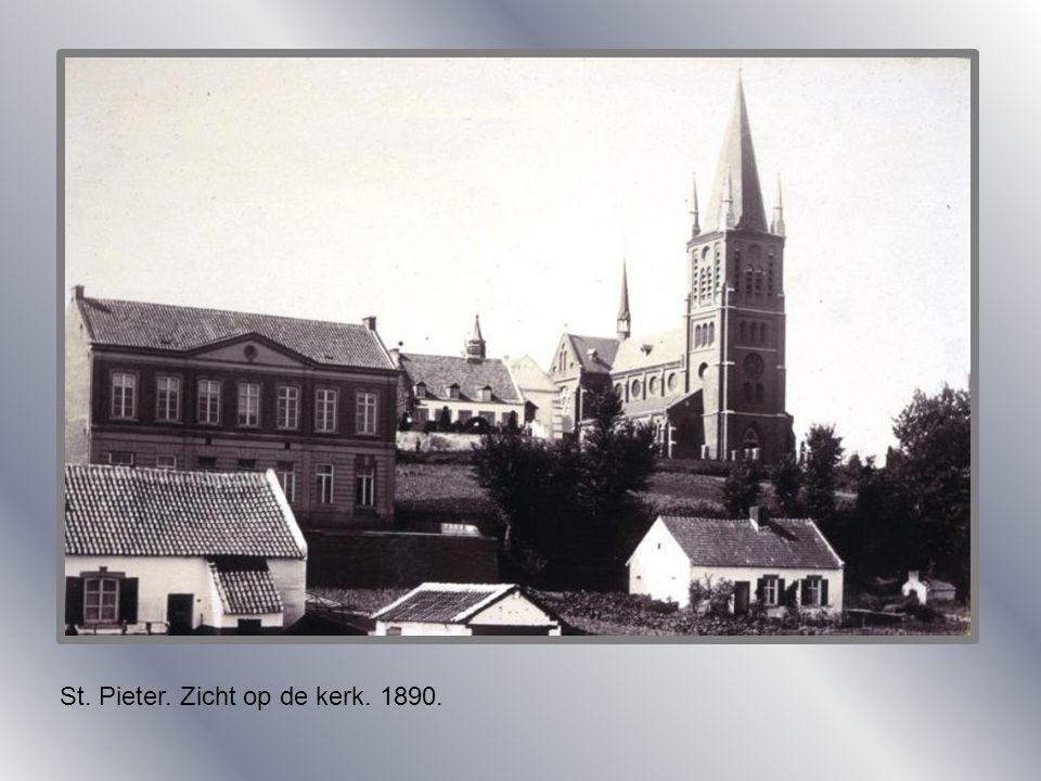 St. Pieter. Zicht op de kerk. 1890.
