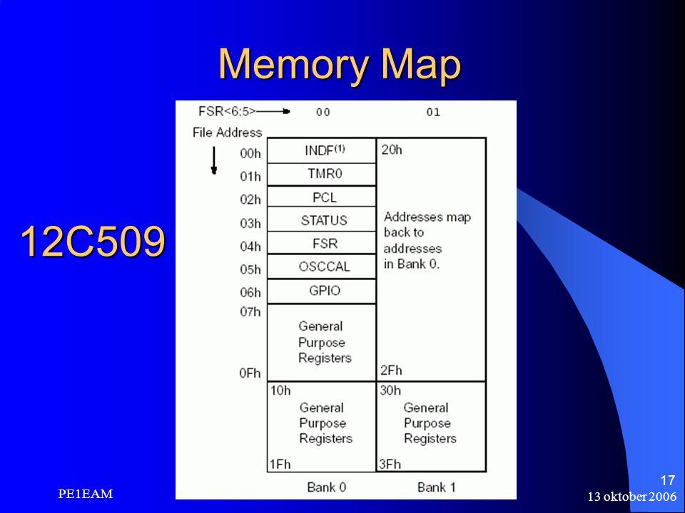 Memory Map 12C509 PE1EAM 13 oktober 2006