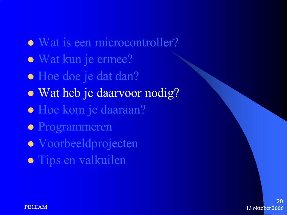 Wat is een microcontroller Wat kun je ermee Hoe doe je dat dan