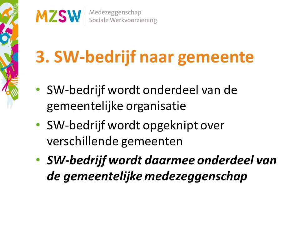 3. SW-bedrijf naar gemeente