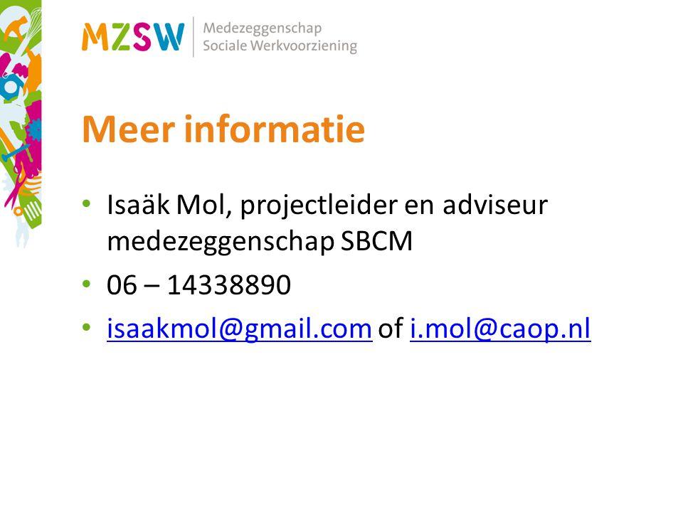 Meer informatie Isaäk Mol, projectleider en adviseur medezeggenschap SBCM.