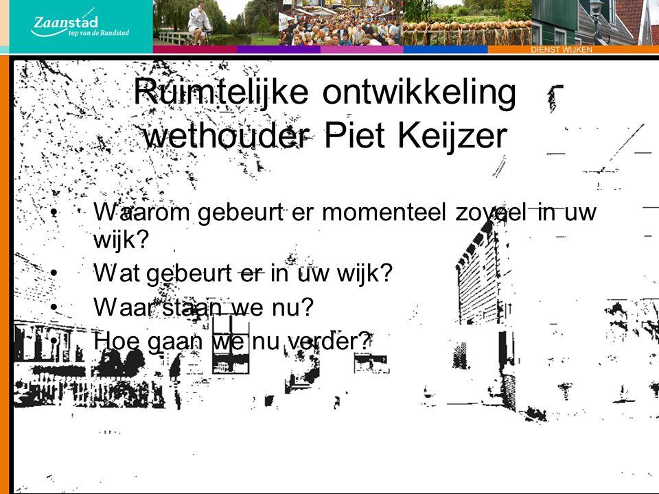 Ruimtelijke ontwikkeling wethouder Piet Keijzer