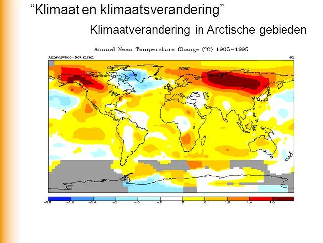 Klimaat en klimaatsverandering
