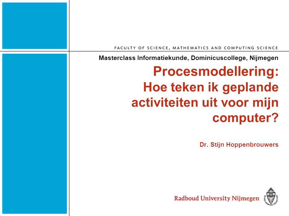 Masterclass Informatiekunde, Dominicuscollege, Nijmegen