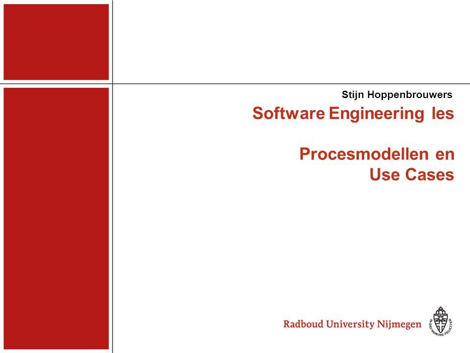 Software Engineering les Procesmodellen en Use Cases