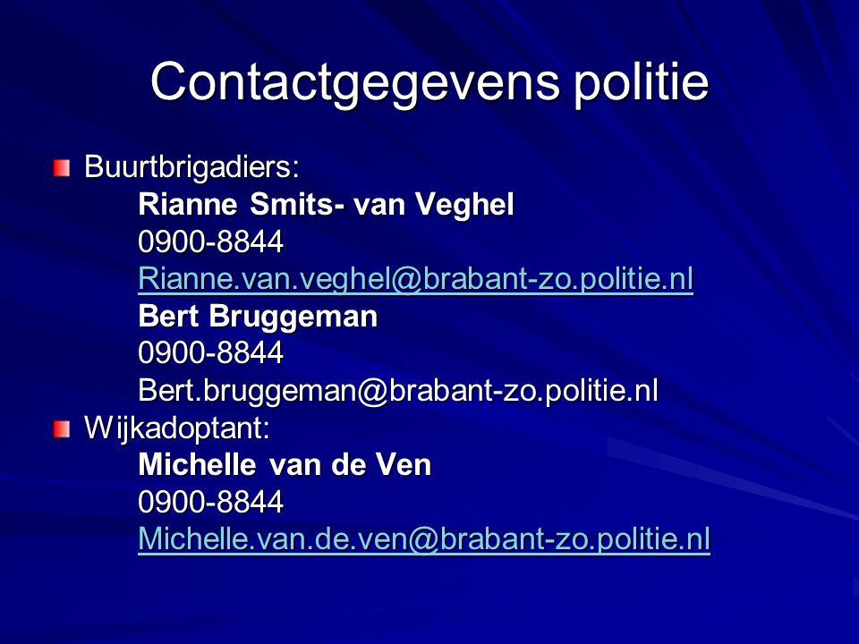 Contactgegevens politie