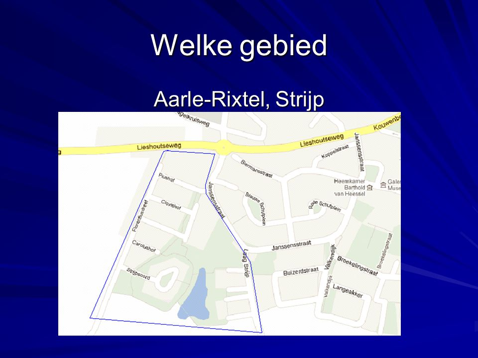 Welke gebied Aarle-Rixtel, Strijp